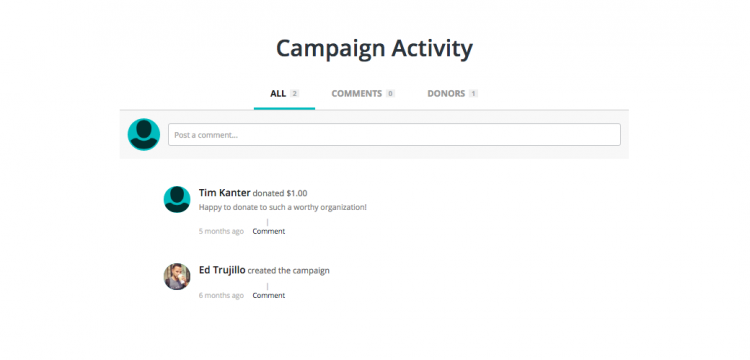 crowdfunding-page-campaign-activity