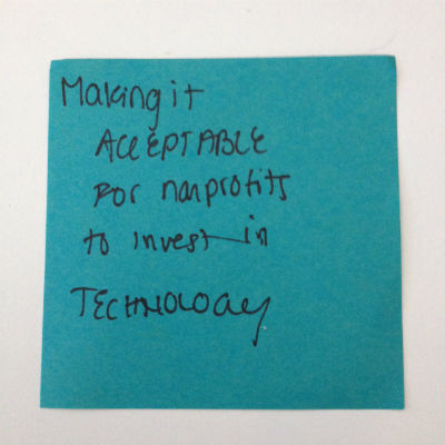 nonprofits invest post-it note