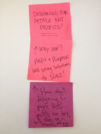 design for people post-it note