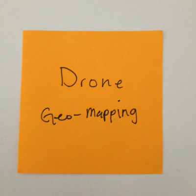 drone geo-mapping post-it note