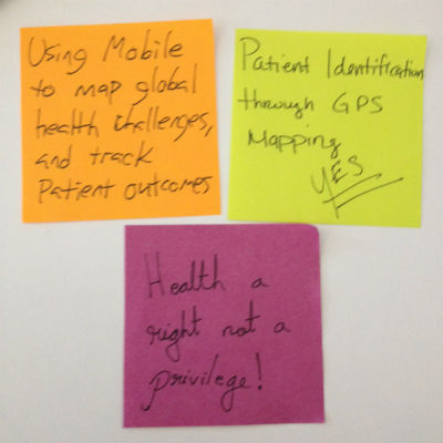 mobile tech for health post-it note