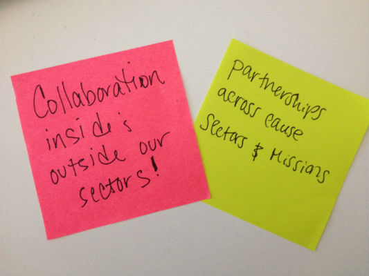 collaboration post-it note
