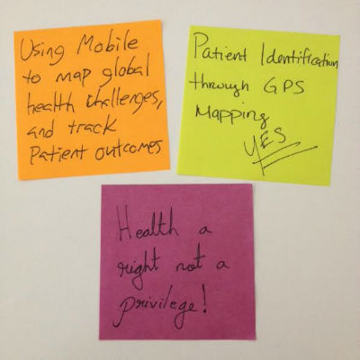 mobile for health post-it note