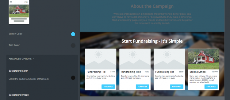 An example of a fundraising level on a Classy Peer-to-Peer page
