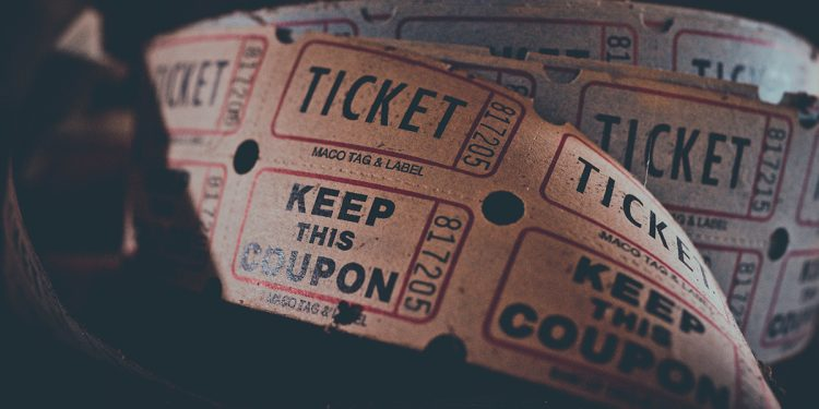 Image of roll of tickets