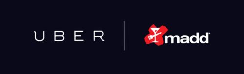 MADD and Uber logos