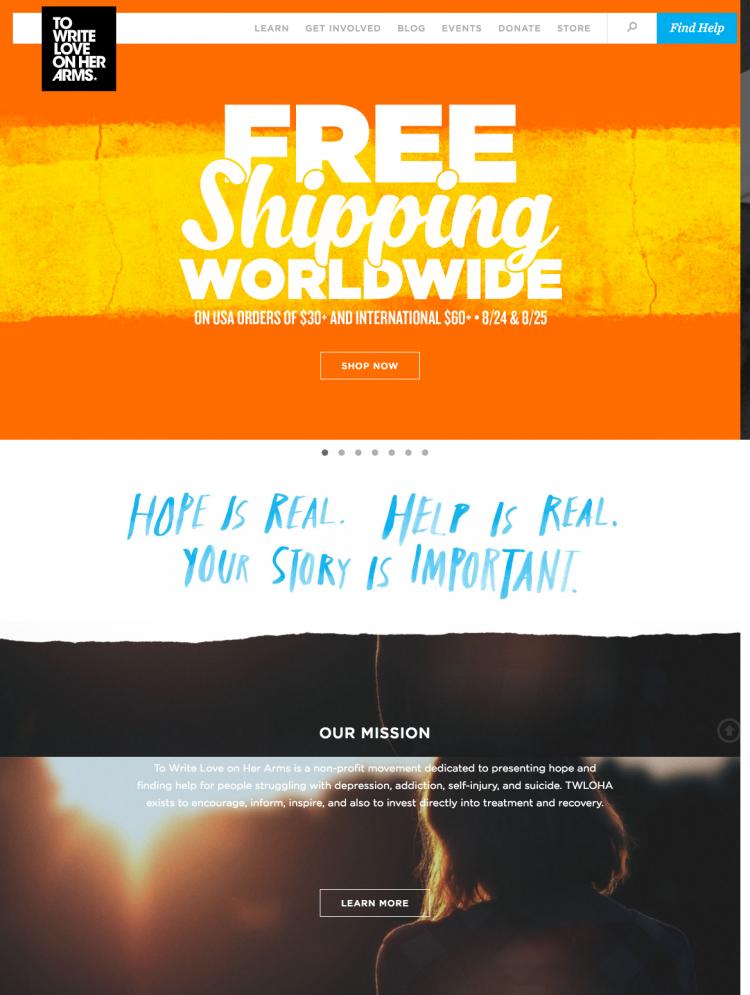 TWLOHA homepage