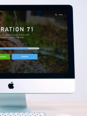 fresh:71 donation page on a large desktop computer next to a plant