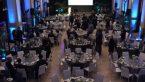 Cloud 100 List awards dinner table set up