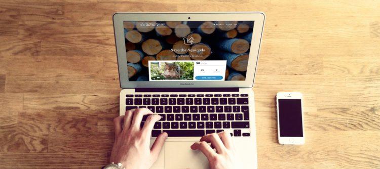 microsite on laptop