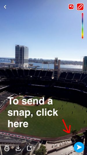 Image of a snapchat snap