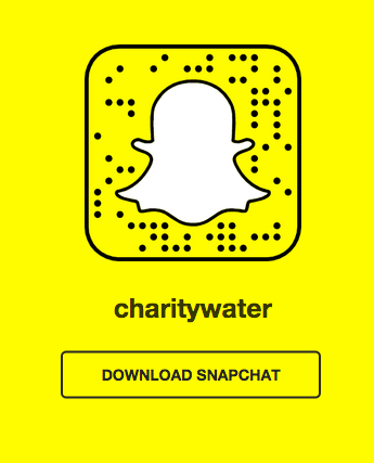 charity:water's snapcode