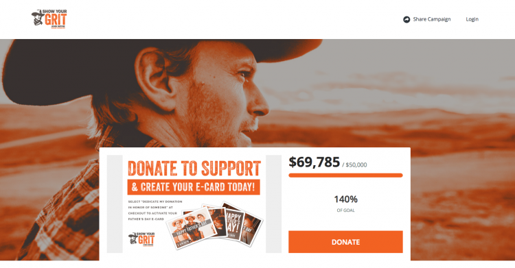 John Wayne Cancer Foundation microsite