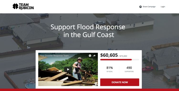 Team Rubicon landing page
