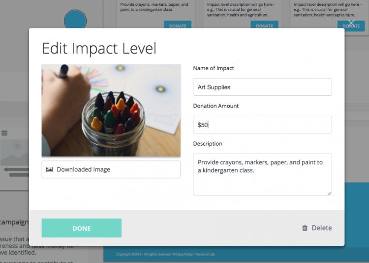 impact level art supplies