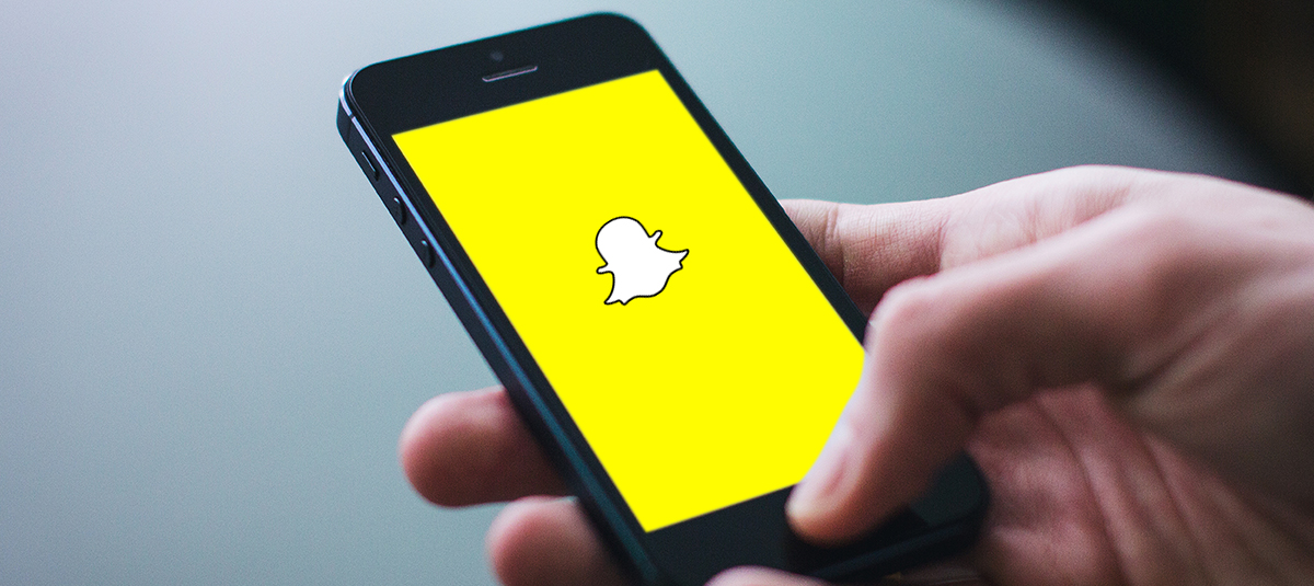 snap chat app on mobile device