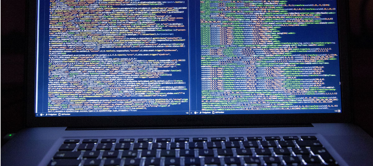 Image of coding on a laptop screen