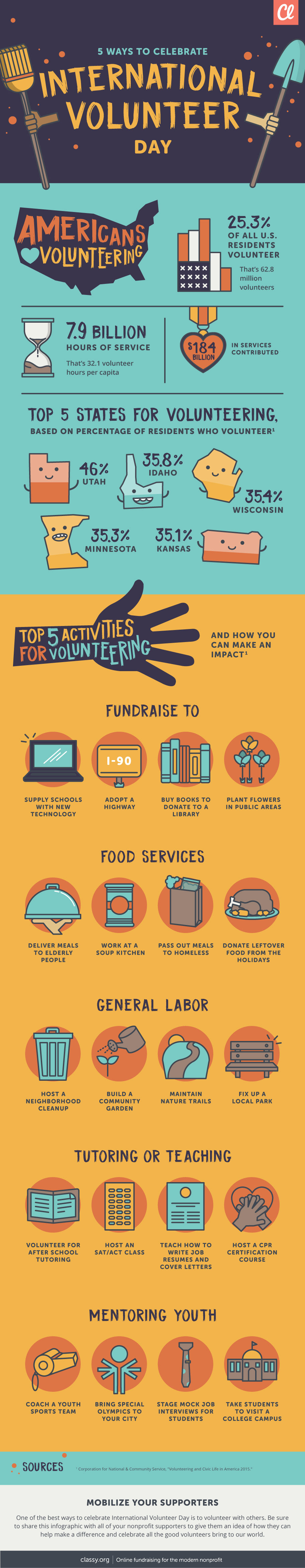 international volunteer day infographic