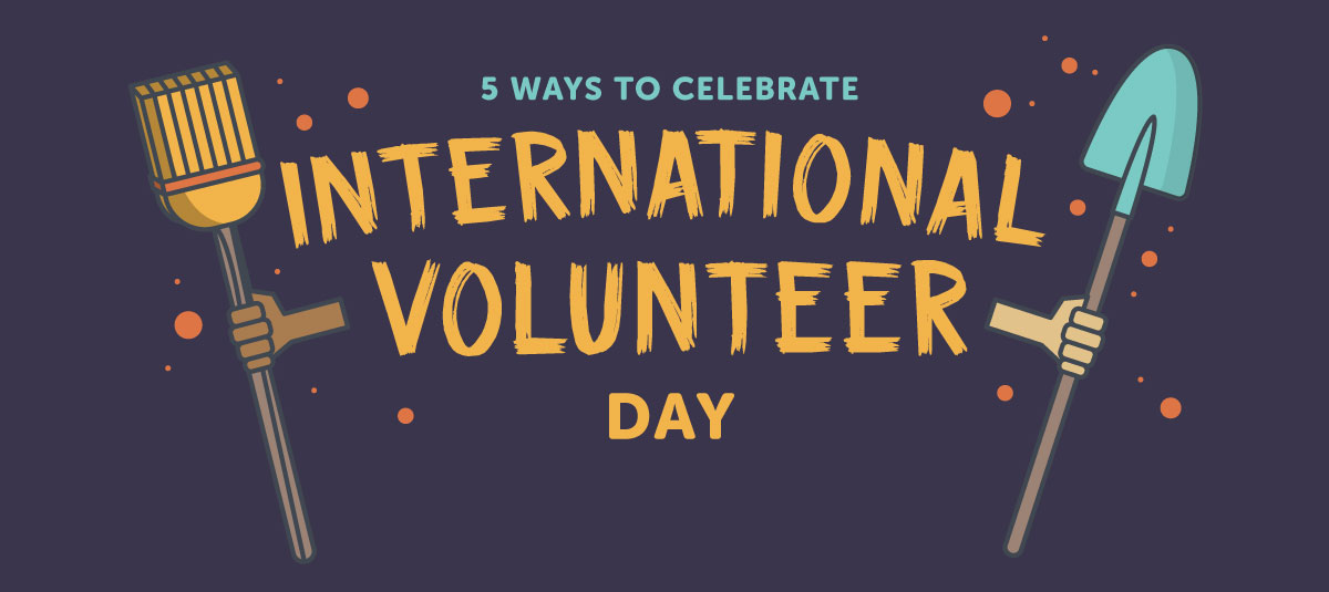 illustration celebrating national volunteer day
