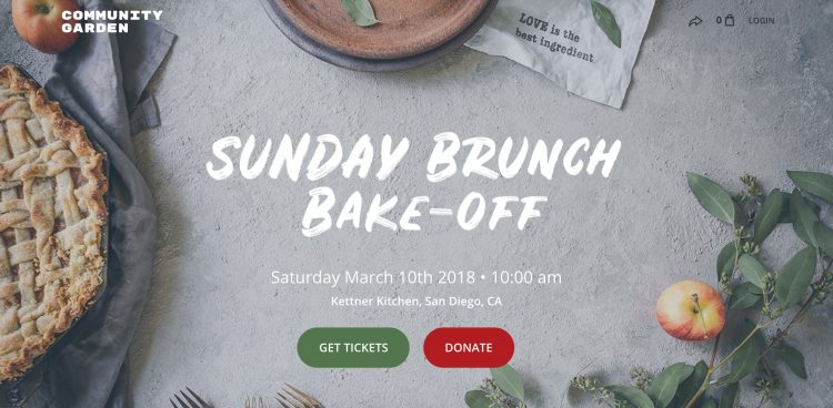 fundraiser event brunch bake off