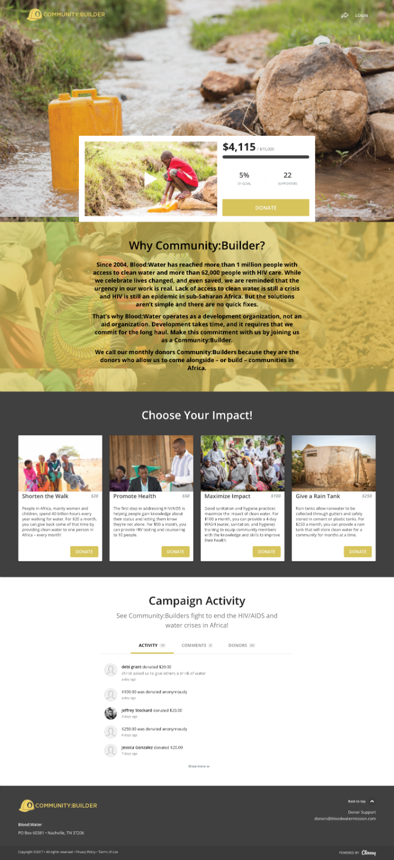 Community Builder Webpage
