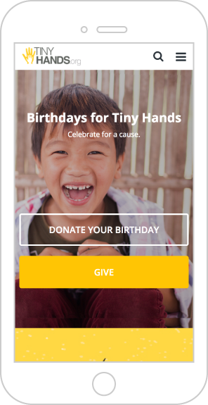 peer-to-peer fundraising page on mobile