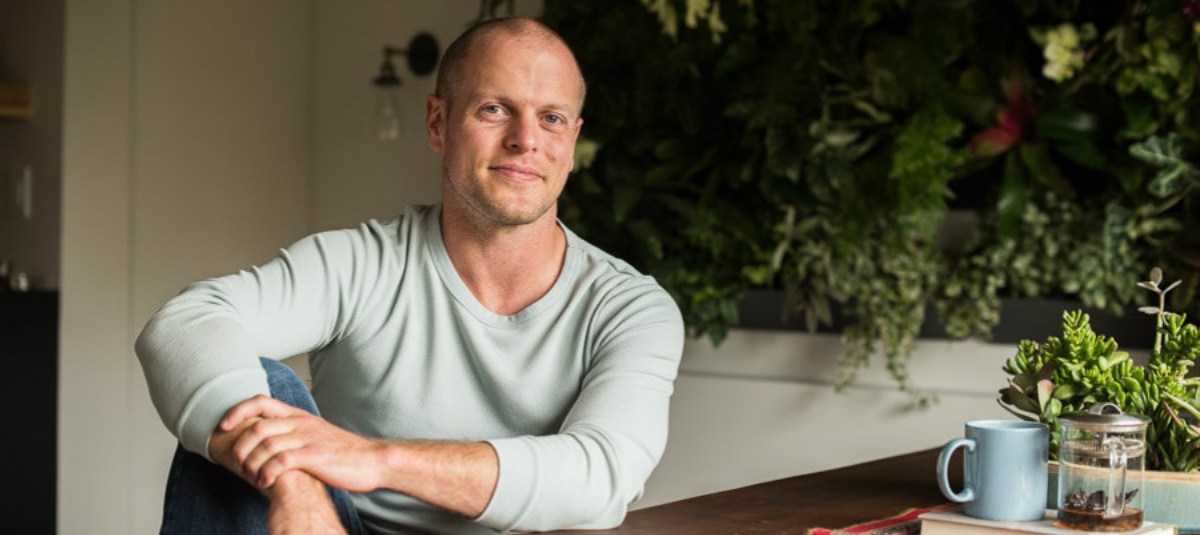 photo of Tim Ferriss in a blue sweater