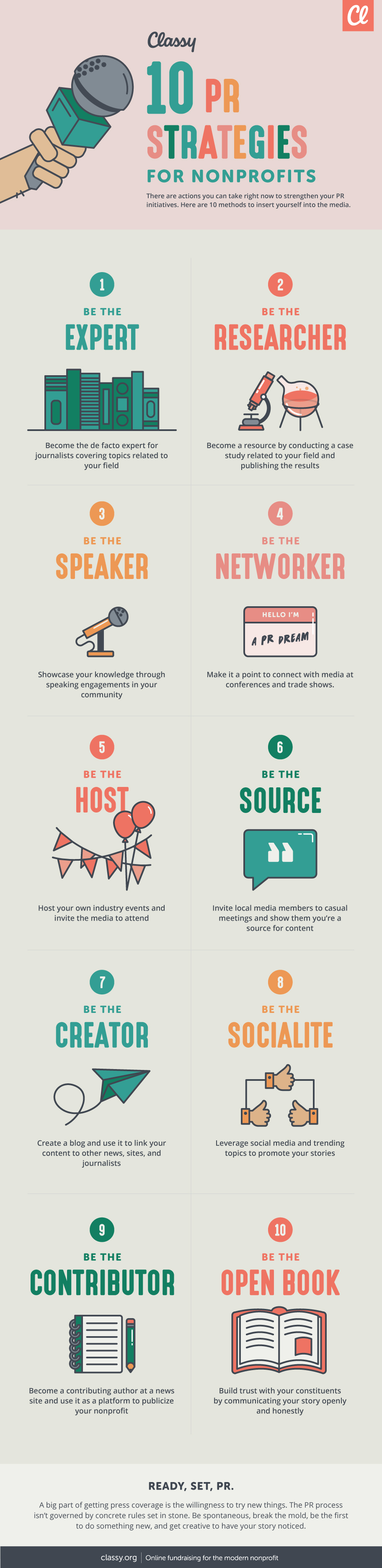 PR strategies infographic
