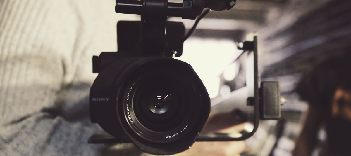 close up of a sony camera