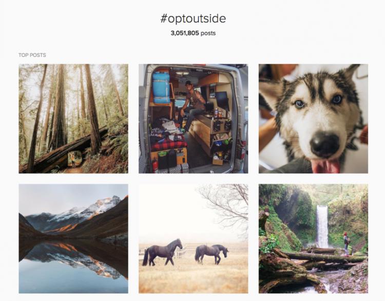 OptOutside instagram stream