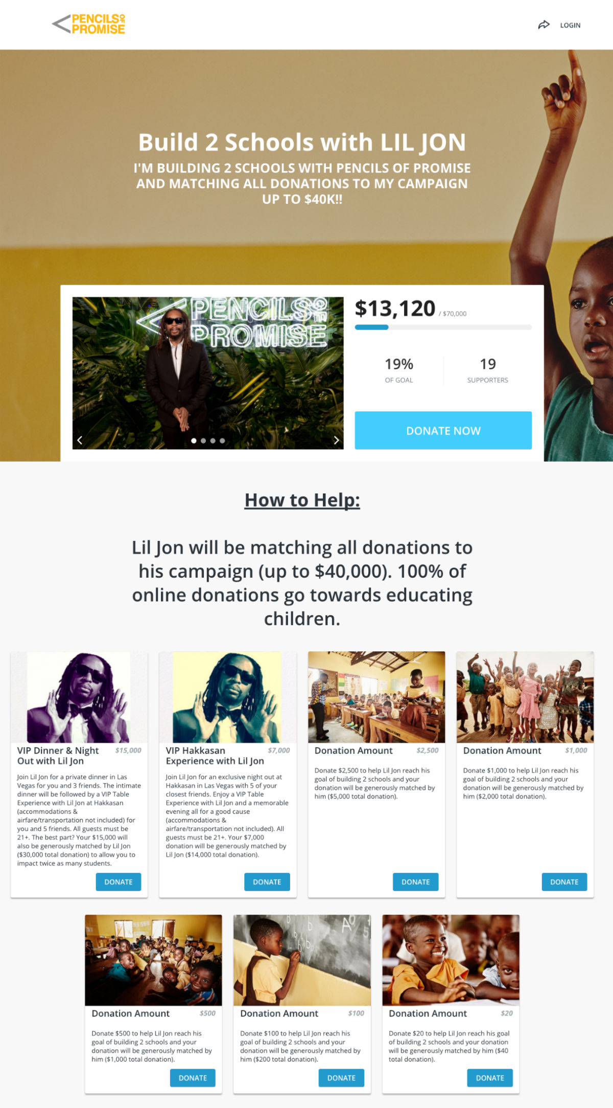 Lil Jon PoP celebrity fundraisers