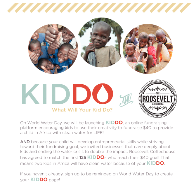 kiddo blood:Water campaign
