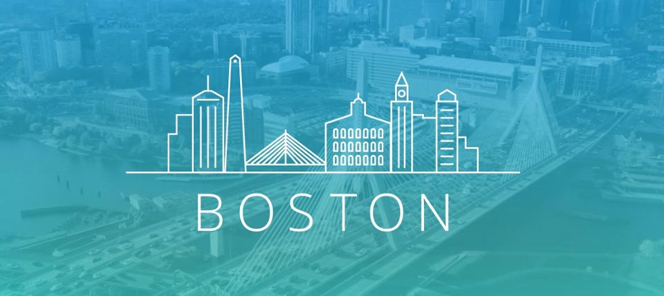boston landscape graphic