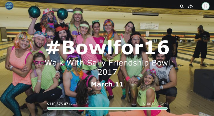 Walk With Sally bowling event