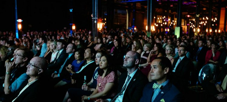 Classy awards header of crowd