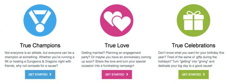 True Love DIY fundraising options