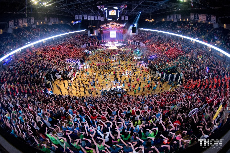 plenned penn state dance marathon arena full of people