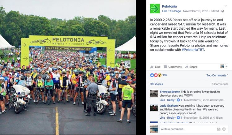 pelotonia cycling event social image