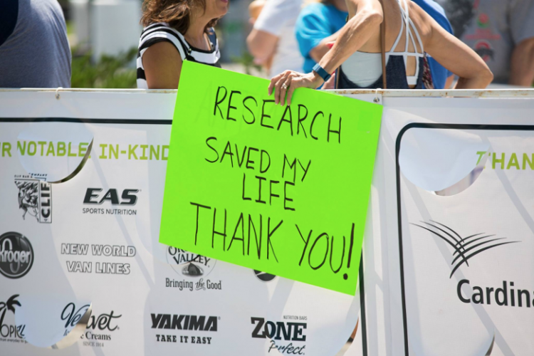 pelotonia cycling event sign