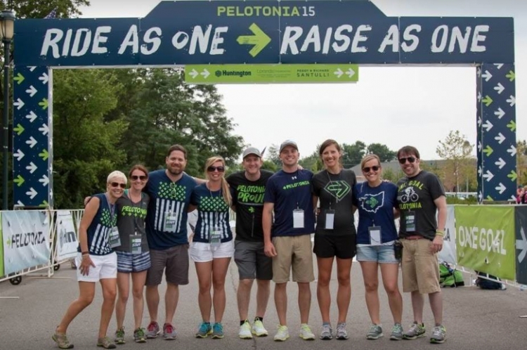 pelotonia cycling event team
