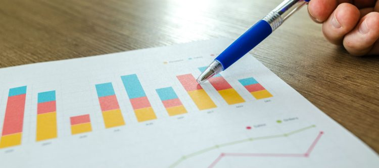 Bar chart of nonprofit marketing metrics