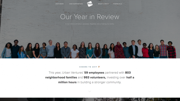 urban ventures annual report