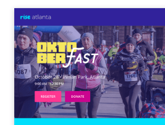 Campaign page example for charity run