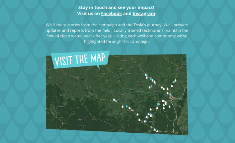water for good campaign map