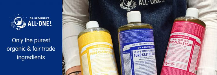 dr bronner's soap bottles