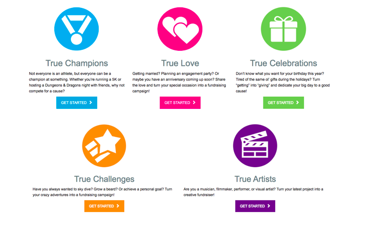 True Colors Fund Year-Round Peer-to-Peer Fundraising Page