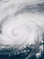hurricane florence going over the south east of the united states