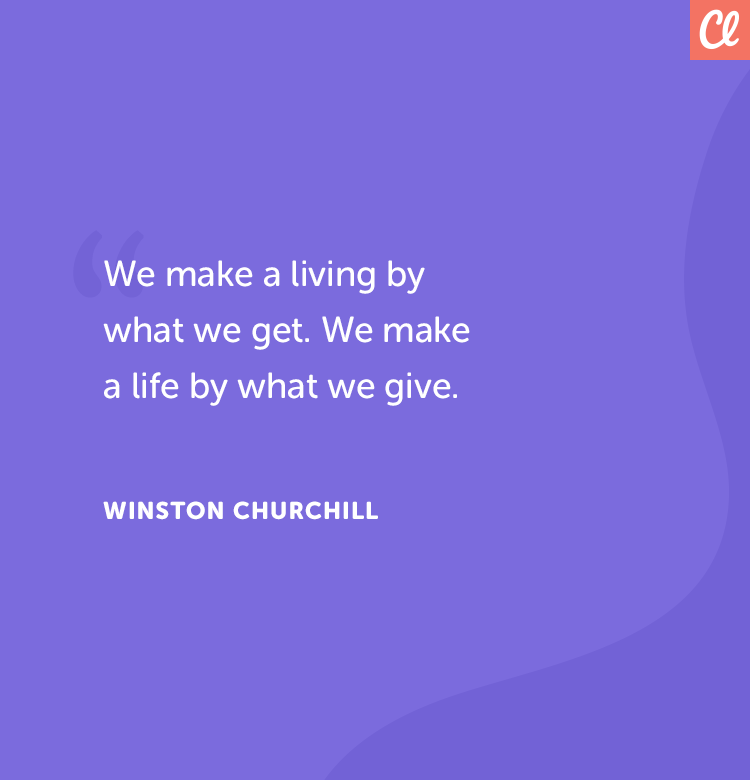 Giving quote Winston Churchill
