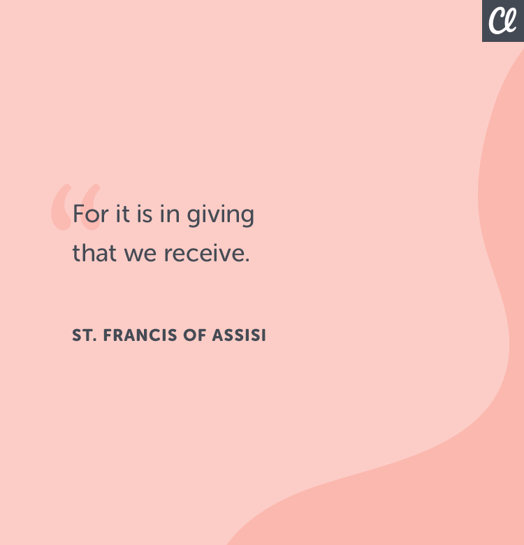Giving quote st. francise of assisi