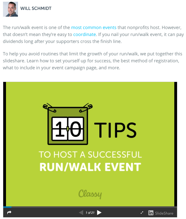 Picture of the blog post, 10 Tips to Host a Successful Run/Walk